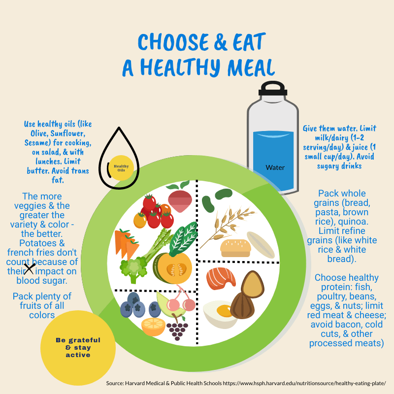 children's healthy plate and short description