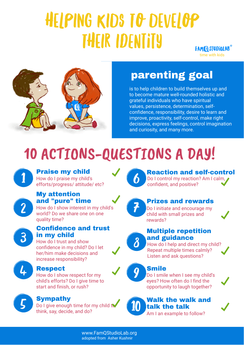 10 wise tips to raise a child with strong identity famqstudiolab 10 actions day
