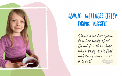 Easy Slavic Jelly Drink Kisel Families make for their kids as a wellness drink with 2 Steps