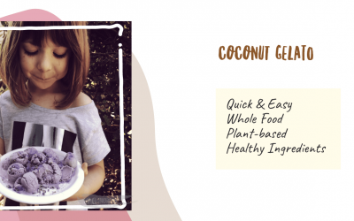Easy Coconut Gelato Healthy Recipe with 3 Steps and 3 Key Ingredients